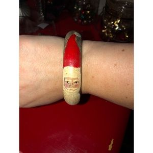 Folk Art Santa Handpainted Bracelet